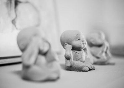 Kleine Buddhas, Studio Dekoration
